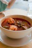 Ξινή σούπα με το κόκκινο κάρρυ Στοκ φωτογραφίες με δικαίωμα ελεύθερης χρήσης