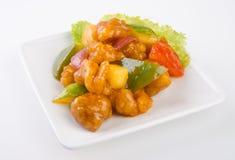 ξινό γλυκό χοιρινού κρέατος της Μαλαισίας τροφίμων Στοκ εικόνα με δικαίωμα ελεύθερης χρήσης