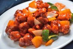ξινό γλυκό χοιρινού κρέατος στοκ φωτογραφίες