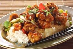 ξινό γλυκό χοιρινού κρέατο& στοκ εικόνες