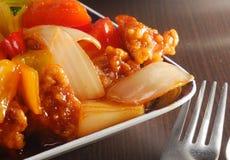 ξινό γλυκό χοιρινού κρέατο& στοκ εικόνα με δικαίωμα ελεύθερης χρήσης