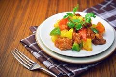 ξινό γλυκό χοιρινού κρέατος Στοκ Εικόνα