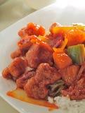 ξινό γλυκό χοιρινού κρέατο& Στοκ Εικόνα