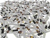 ξοδευμένη δοκιμή λουρίδων Στοκ Φωτογραφία