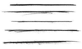 ξυλάνθρακας πέντε σημάδια Στοκ Εικόνες