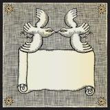 ξυλογραφία περιστεριών &alph Στοκ εικόνες με δικαίωμα ελεύθερης χρήσης