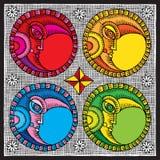 ξυλογραφία φεγγαριών χρώμ Στοκ φωτογραφία με δικαίωμα ελεύθερης χρήσης