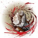 ξυλογραφία ύφους πυγμών Στοκ Φωτογραφίες