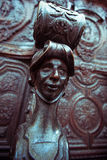 Ξυλουργική Detaild σε μια χορωδία εκκλησιών στοκ εικόνα