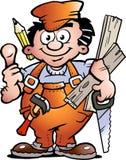 ξυλουργός handyman Στοκ φωτογραφίες με δικαίωμα ελεύθερης χρήσης