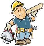 ξυλουργός handyman διανυσματική απεικόνιση