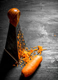 Ξυμένα καρότα για τη σούπα Στοκ Εικόνα