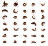 ξυμένα σοκολάτα κομμάτια Στοκ Εικόνα