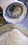 Ξυμένο τυρί της Πάρμας σε ένα κύπελλο Στοκ Εικόνες