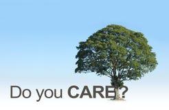 Ξυπνήστε άνθρωποι - φροντίζετε πραγματικά για τα όμορφα ΔΕΝΤΡΑ μας; απεικόνιση αποθεμάτων
