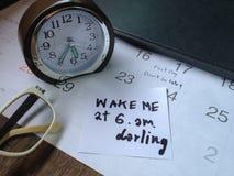 Ξυπνήστε στην εργασία της πρώτης ημέρας Στοκ φωτογραφία με δικαίωμα ελεύθερης χρήσης