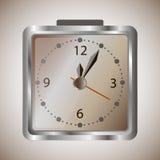 Ξυπνητήρι μετάλλων με το χρόνο Στοκ Φωτογραφία