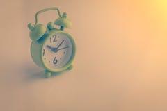 Ξυπνητήρι με τον εκλεκτής ποιότητας τόνο χρώματος jpg Στοκ Φωτογραφία