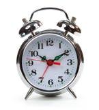 Ξυπνητήρι που απομονώνεται κλασικό στο λευκό στοκ φωτογραφία με δικαίωμα ελεύθερης χρήσης