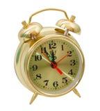 Ξυπνητηριών χρυσός που απομονώνεται κίτρινος Στοκ φωτογραφία με δικαίωμα ελεύθερης χρήσης