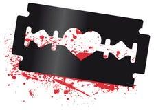 ξυράφι καρδιών λεπίδων ελεύθερη απεικόνιση δικαιώματος