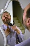 Ξυρίζοντας άτομο Στοκ Φωτογραφία