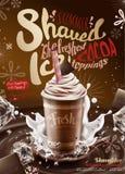 Ξυρισμένες πάγος αγγελίες σιροπιού σοκολάτας ελεύθερη απεικόνιση δικαιώματος