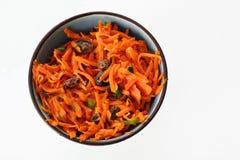 ξυστρισμένη καρότο σαλάτα σταφίδων στοκ φωτογραφία με δικαίωμα ελεύθερης χρήσης