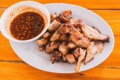 Ξυλάνθρακας-βρασμένος λαιμός χοιρινού κρέατος Στοκ εικόνες με δικαίωμα ελεύθερης χρήσης