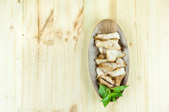 Ξυλάνθρακας-βρασμένος ψημένος στη σχάρα λαιμός χοιρινού κρέατος (ή Ko MU Yang στην ταϊλανδική γλώσσα) Στοκ Εικόνα