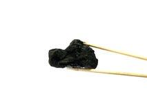Ξυλάνθρακας στην άσπρη ανασκόπηση στοκ φωτογραφία