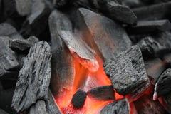 Ξυλάνθρακας στη σχάρα Στοκ φωτογραφία με δικαίωμα ελεύθερης χρήσης