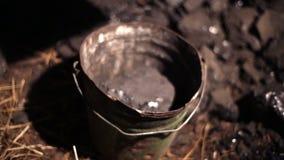 ξυλάνθρακας απόθεμα βίντεο