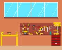 Ξυλουργός εργασιακών χώρων Στοκ φωτογραφίες με δικαίωμα ελεύθερης χρήσης