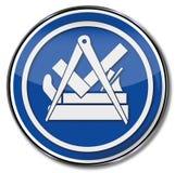 Ξυλουργός σημαδιών συντεχνιών Στοκ Εικόνα