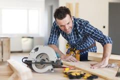 Ξυλουργός στην εργασία Στοκ Εικόνα