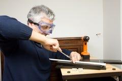 Ξυλουργός στην εργασία Στοκ Φωτογραφία