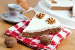 ξύλα καρυδιάς καφέ κέικ Στοκ εικόνες με δικαίωμα ελεύθερης χρήσης
