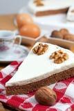 ξύλα καρυδιάς καφέ κέικ Στοκ φωτογραφία με δικαίωμα ελεύθερης χρήσης