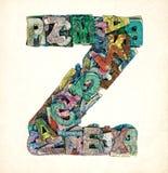 Ξύλινα γράμματα Ζ Στοκ φωτογραφία με δικαίωμα ελεύθερης χρήσης