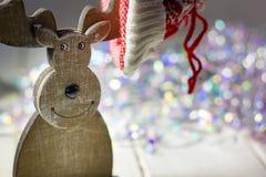 Ξύλινα ελάφια Χριστουγέννων Στοκ εικόνα με δικαίωμα ελεύθερης χρήσης