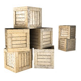 Ξύλινα κλουβιά Στοκ Εικόνα