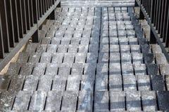 Ξύλινα σκαλοπάτια με κανένα υπαίθρια Στοκ Φωτογραφία