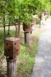 Ξύλινα lampposts στοκ εικόνες