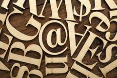 Ξύλινες επιστολές αλφάβητου Στοκ Εικόνα
