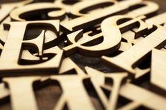 Ξύλινες επιστολές αλφάβητου Στοκ φωτογραφία με δικαίωμα ελεύθερης χρήσης