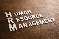 Ξύλινες επιστολές HRM στοκ φωτογραφία με δικαίωμα ελεύθερης χρήσης