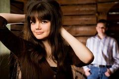 ξύλινες νεολαίες γυναι Στοκ Εικόνες