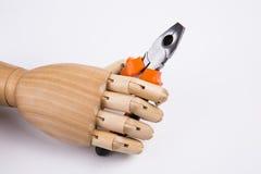 Ξύλινες πένσες εκμετάλλευσης χεριών Στοκ φωτογραφία με δικαίωμα ελεύθερης χρήσης