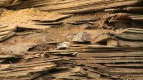 Ξύλινες σανίδες που συσσωρεύονται πάνω από μεταξύ τους φιλμ μικρού μήκους